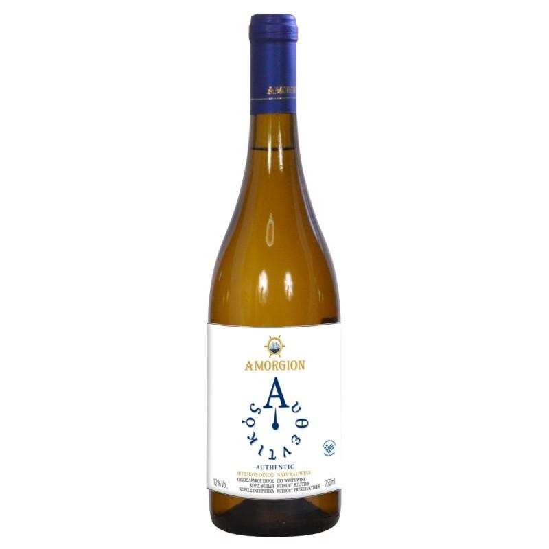 Αυθεντικός Βιολογικός λευκός οίνος ξηρός 750ml - Αμόργιον